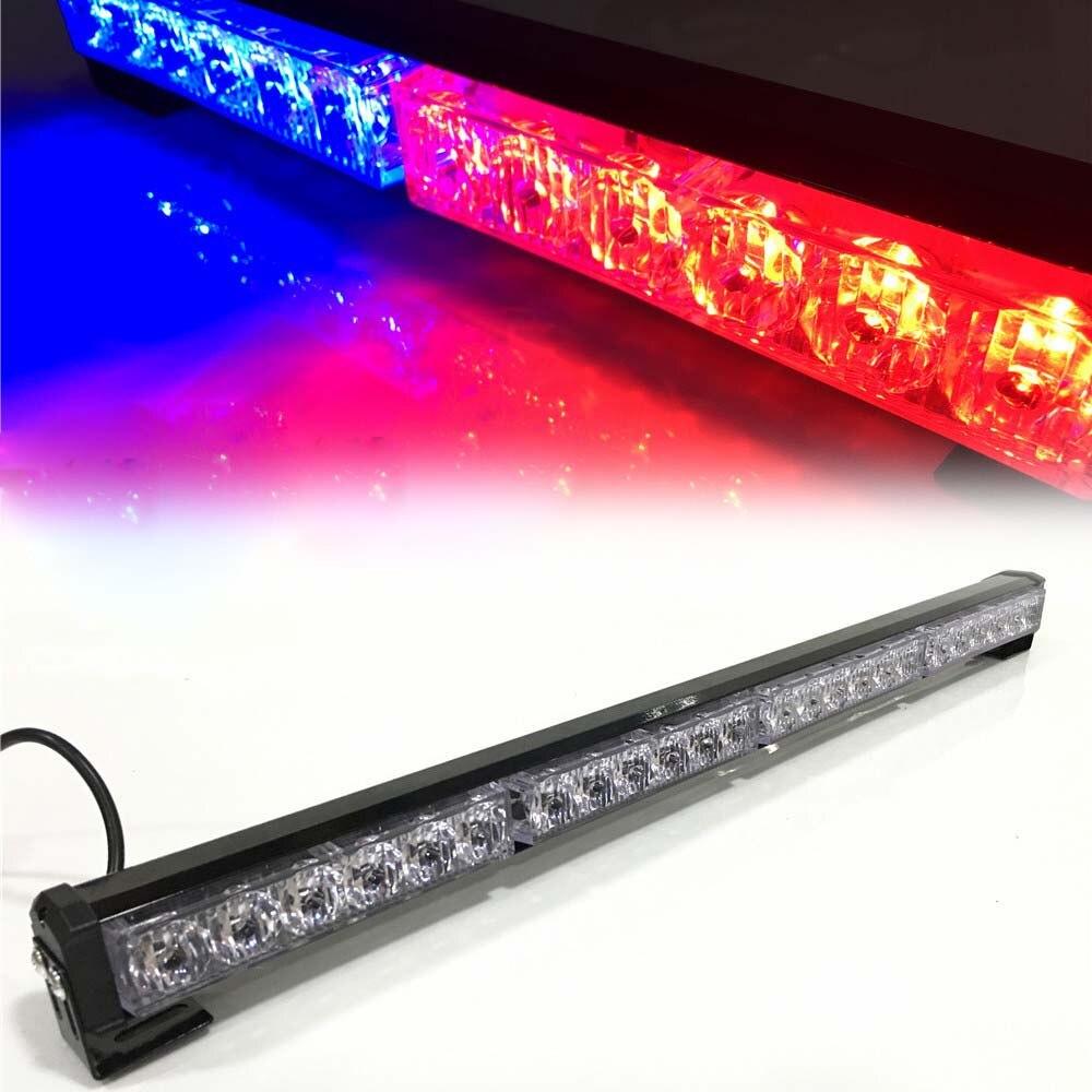 HEHEMM 24 LED Strobe Warning Light Flash Lamp Emergency Lights for Car Truck Vehicles DC12V AMBER