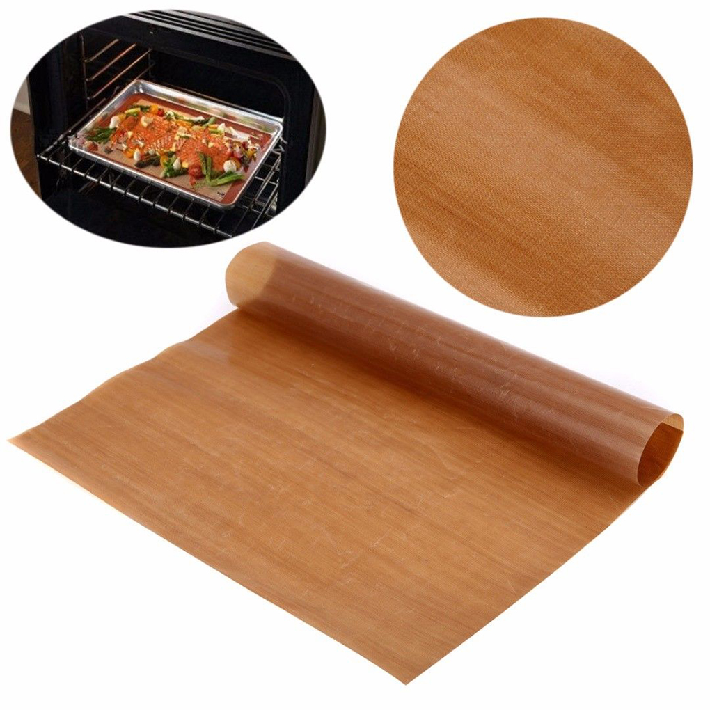 2019 New Non Stick Baking Paper Reusable 40 x 30 cm High Temperature Resistant Teflon Sheet Oven Microwave Grill Baking Mat