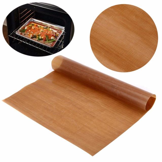 2019 New Non Stick Baking Paper Reusable 40 x 30 cm High Temperature Resistant Teflon Sheet Oven Microwave Grill Baking Mat
