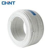 CHNT Провода и кабель два основных Parallel Lines Белый Медный провод bvvb 2*4 квадратных куртка линии 100 м