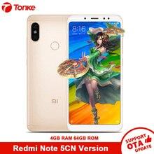 Xiaomi Telefonu Redmi Not 5 64 GB ROM 4 GB RAM Snapdragon 636 Octa Çekirdekli Çift Kamera 12MP + 5MP 5.99