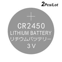 Bateria célula de botão de lítio cr2450 3v, 2 peças, tipo moeda cr 2450 substituição 5029lc br2450 BR2450 1W cr2450n ecr2450 dl2450 kcr2450 lm2450