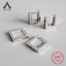 2018 New Listing S925 Sterling Silver Personality Creative Square Earrings цена 2017