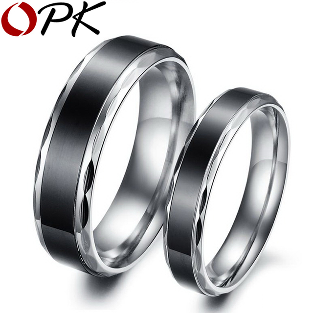 OPK JEWELRY WEDDING RING Titanium ring  Hot Fashion Stainless Steel Couple ring  293