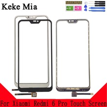 Keke Mia 5.84 For Xiaomi Redmi 6 Pro Touch Screen Glass Front Digitizer Panel Lens Sensor And Tools Free Adhesive+Wipes