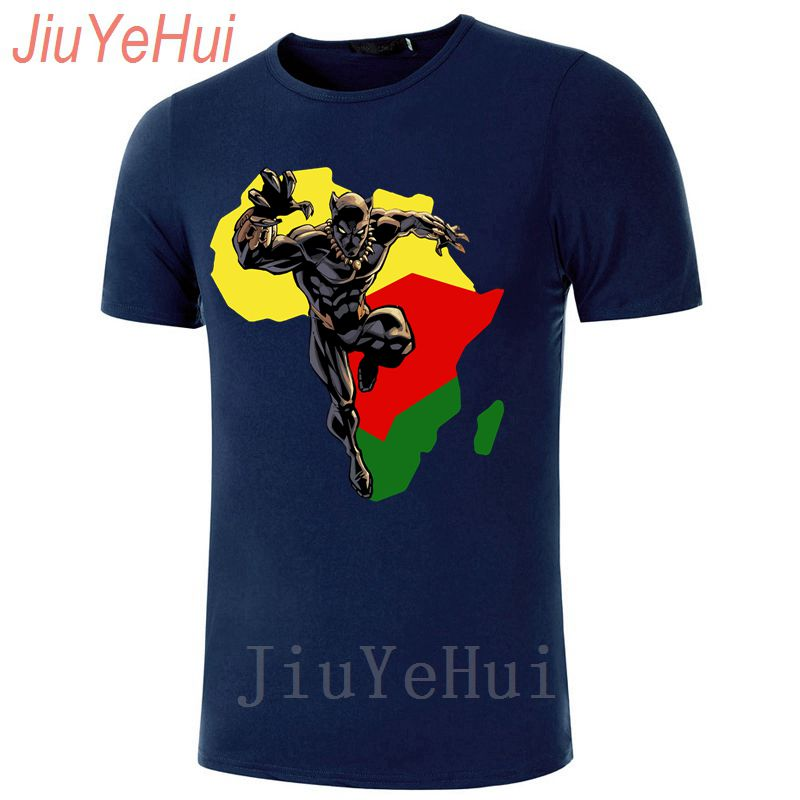 f72ebc9e4b7 Black Panther T Shirt Men Captain America Civil War T-shirt Marvel Avengers  iron Fitness Crossfit Africa Wakanda Map Tshirts