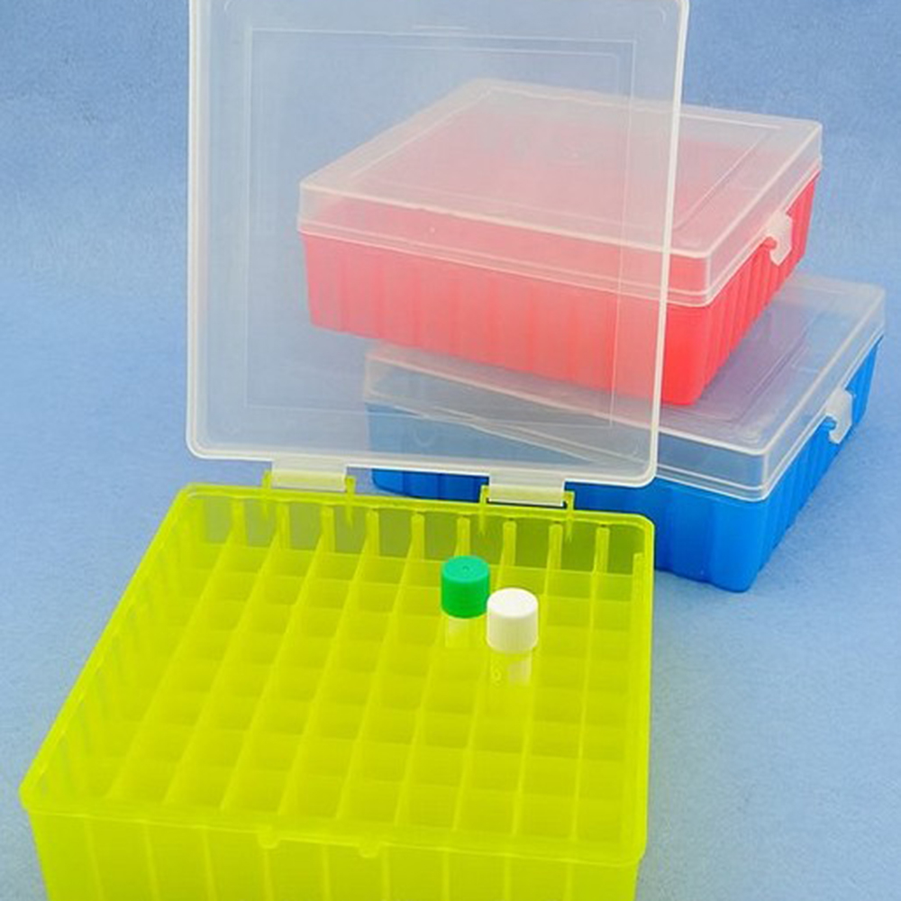 100 Holes laboratory Plastic tube <font><b>box</b></font> use for 2ml,1.5ml 1.8ml cryopreservation tube with connection cover image