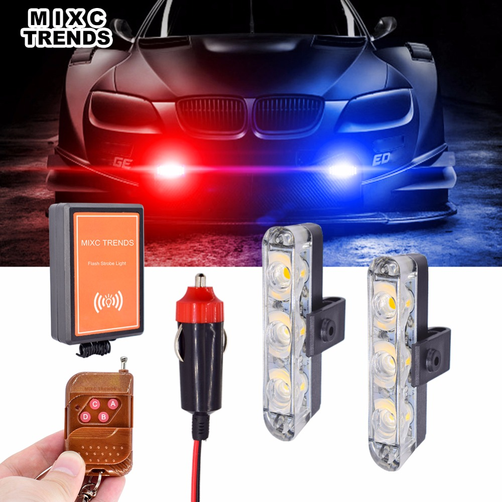 2x4 Led Automobiles 12v Strobe Warning Police Light Car Truck Style Circuit Electronics Area Remote Control Motorcycle Flashing Flasher Lights Blinking Auto