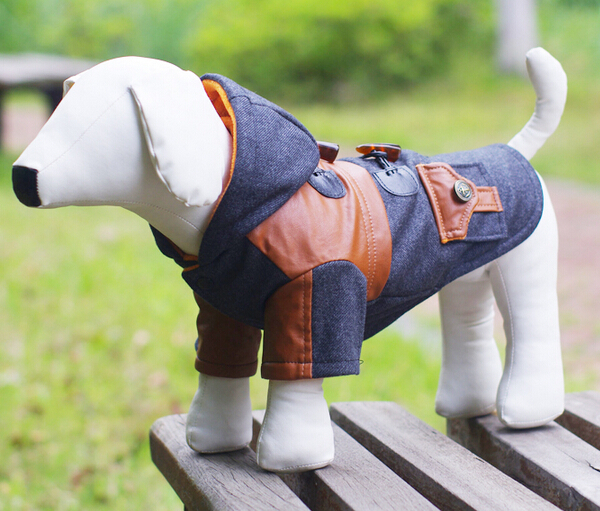 2015 new pet dog cool fashion jackets costume doggy autumn winter sweaters puppy coats apparel dogs clothes pets products 1pcs