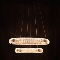 Led хрустальная люстра внутреннего освещения гостиная кухня светодиодного освещения дома осветительных приборов хрустальные люстры круглы