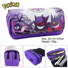 Anime Anime Ir Sacos de Lápis Dos Desenhos Animados Pokemon Monstro de Bolso Pen Caso Bolsa Bolsa maleta de maquiagem Duplo Zíper Saco de Cosmética