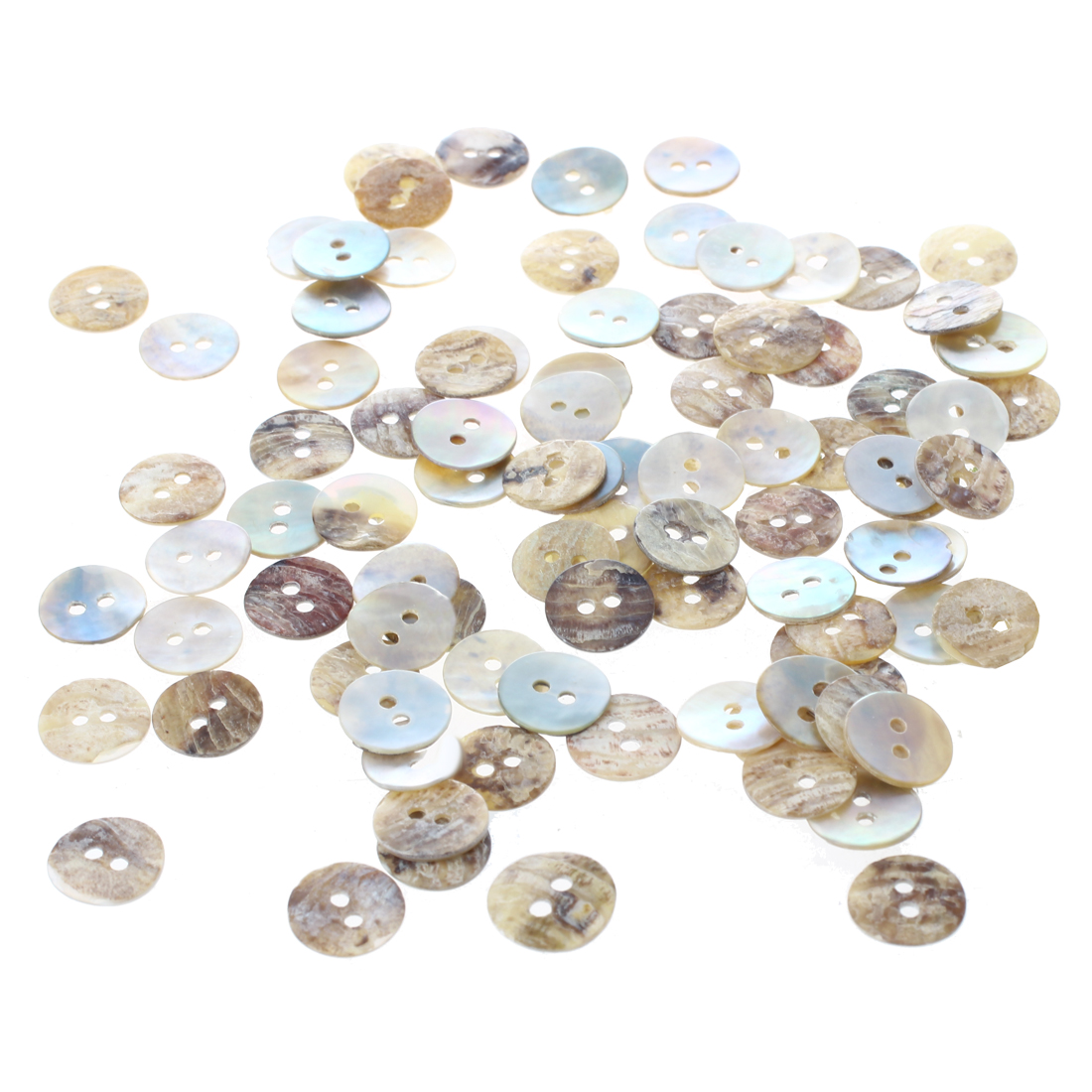 NHBR 100 pcs 10 mm Pearl Mussels Round Buttons