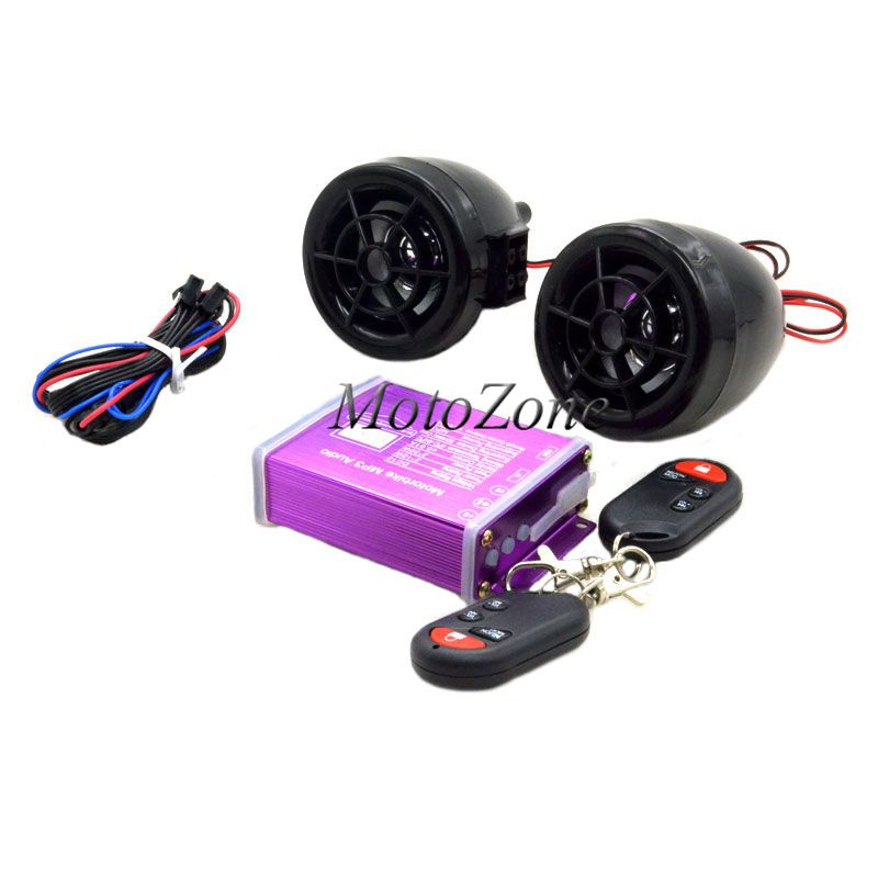 New Wireless Remote Sound System  Waterproof Motorcycle Audio Speakers FM Radio Alarm Systems Anti-theft Motorbike MP3 Audio