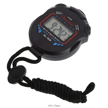 Sports-Stopwatch Timer Chronograph Digital Handheld String LCD Classic with Professional