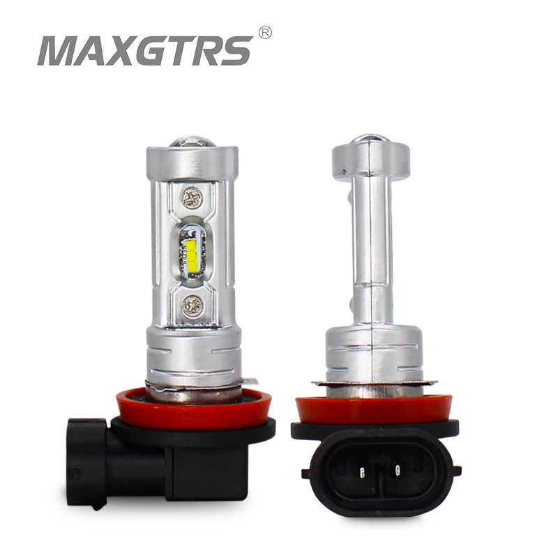 MAXGTRS 2x Car LED Light H8 H11 9005 HB3 9006 HB4 H16 Led CSP Chip Bulbs DRL Auto Lamps Daytime Running Lights Fog Lamp Bulb