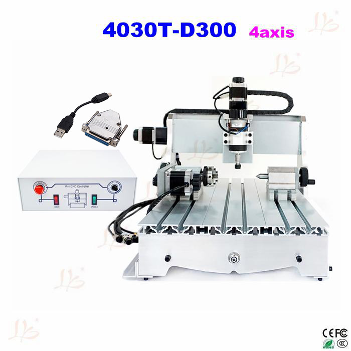 cnc router 3040 T-D300 4axis CNC carving machine cnc engraving machine with External USB adapter 4axis cnc router 3040z vfd800w engraving machine cnc carving machine cnc frame assembled