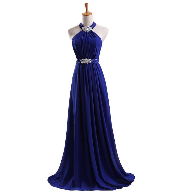 9346720d6b5 Платье линии короткий топ шифоновое платье королевский синий длинное ...