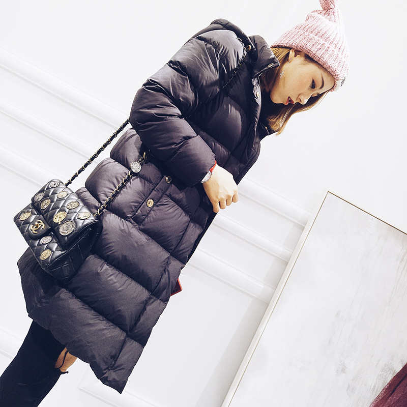 Hooded thickening warm winter down jackets women white duck down coats outerwear 2018 autumn winter