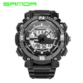 2016 SANDA Fashion Watch Men Hour Waterproof LED Sports Military Watch Shock Men's Analog Quartz Digital Watch Relogio Masculino