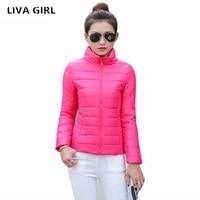 2017 Autumn Winter Women Basic Jacket Coat Female Slim Hooded Brand Cotton Coats Casual Black Jackets