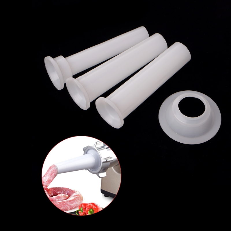3 Pcs Universal Sausage Stuffing Tube Plastic Stuffers For Casing Meat Grinder
