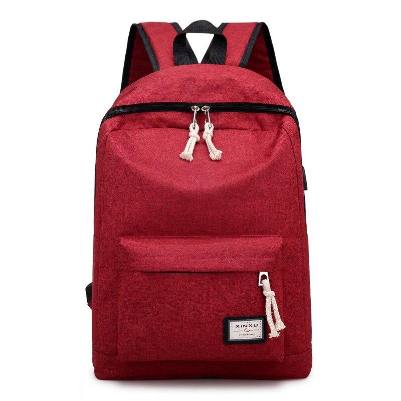 Dower Me Aa41-49 Backpacks Travel Teenage College Canvas Backpack Women Purple Knapsack School Bag