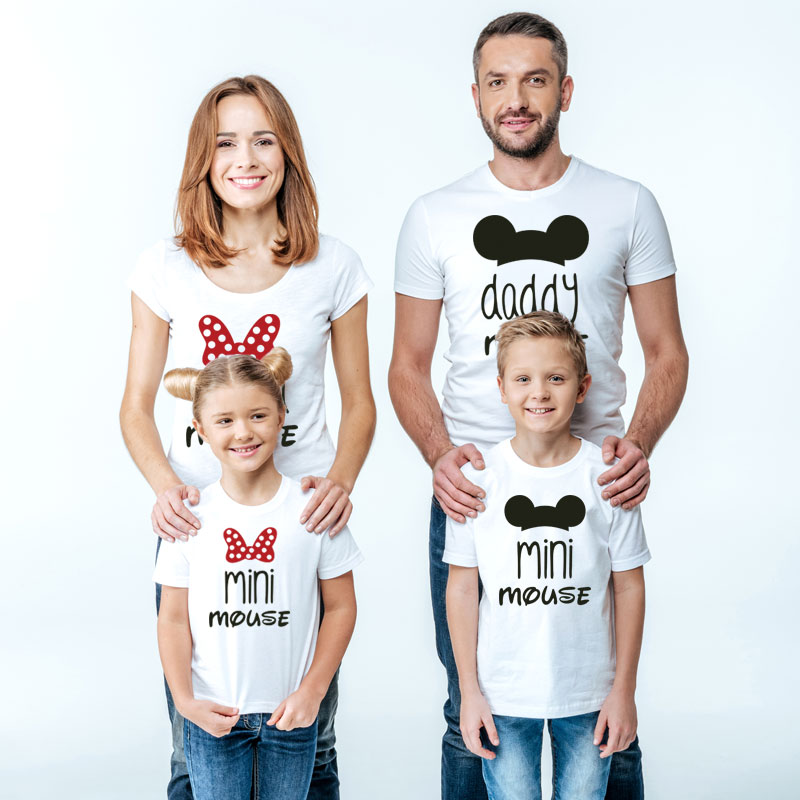 Daddy Mommy And Me Clothes Family T Shirt Mini Mouse Cartoon Mama Baby Girl Father Son Mother Daughter Matching Outfits Look Nmd