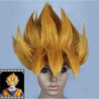 HOT Anime DRAGONBALL Z Cosplay Costume Wig Goku Saiyan Wig Hair Gold Party Halloween Cosplay Prop