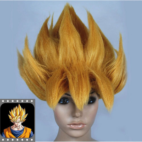 HOT Anime DRAGONBALL Z Cosplay Costume Wig Goku Saiyan Wig Hair Gold Party Halloween Cosplay Prop аксессуары для косплея cosplay wig cosplay cos cos
