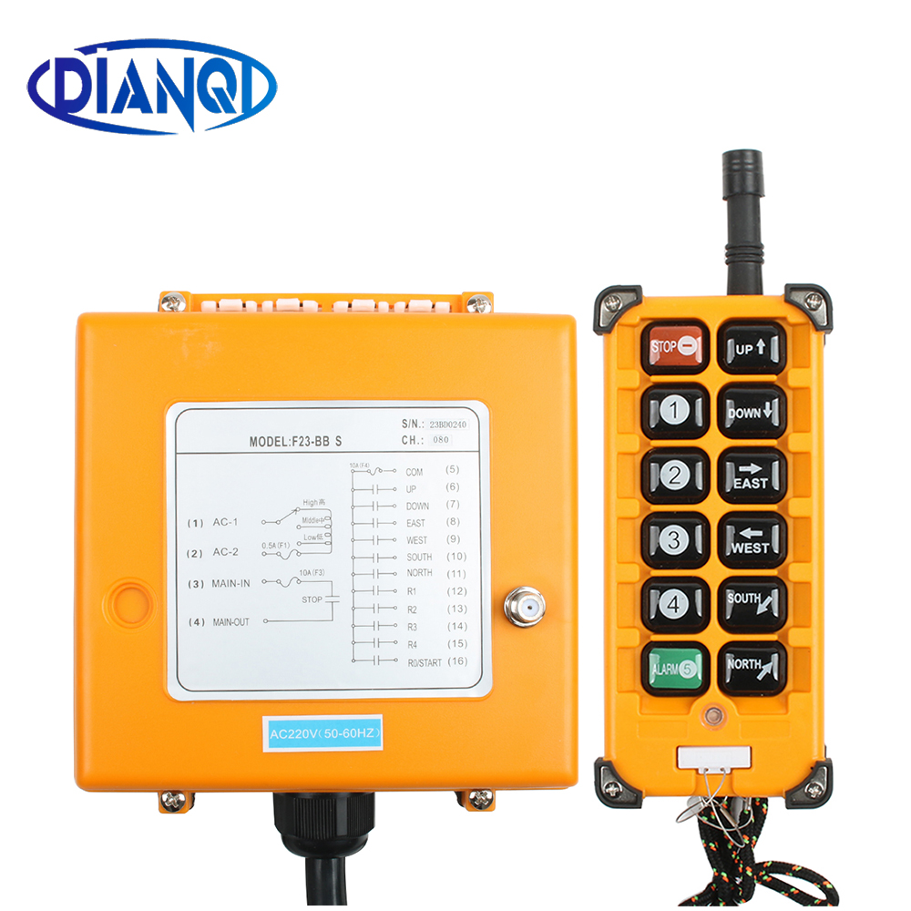 F23 BB Industrial Wireless Radio remote controller switch 1 receiver 1 transmitter speed control Hoist Crane