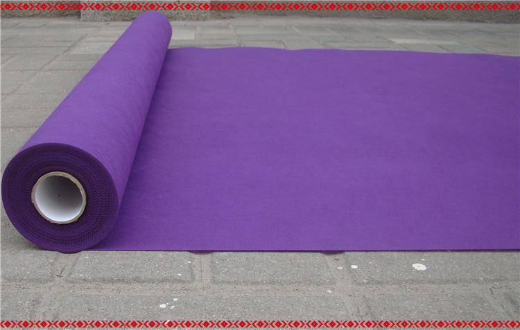 2015 New Wedding Favors Purple Nonwoven Fabric Carpet Aisle Runner