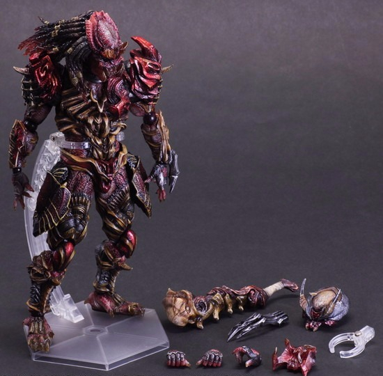 Play Arts Kai Predator Figure Alien Hunter Primevil Figure PA 27cm PVC Action Figure Doll Toys Kids Gift