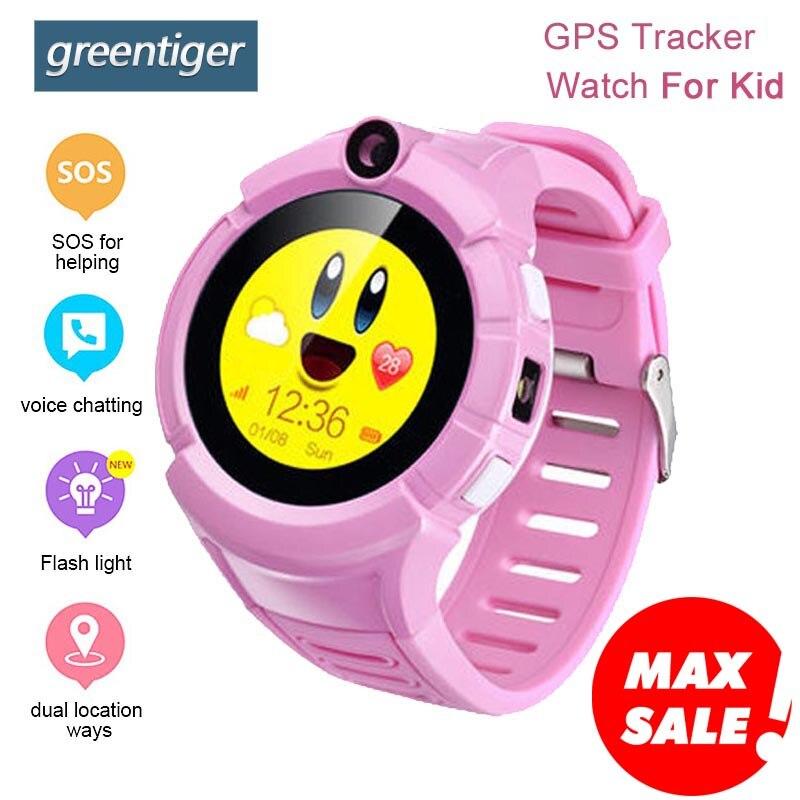 Greentiger Q360 GPS Kids Smart Watch Camera SOS Anti Lost WIFI Location Child smartwatch MonitorTracker baby