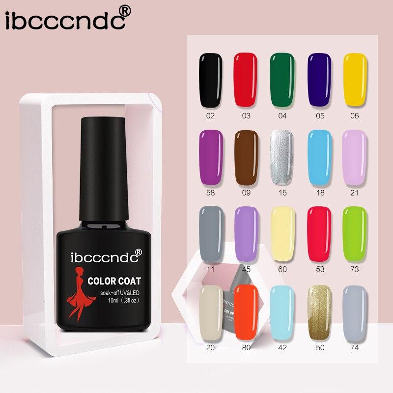 New Ibcccndc 80 Colors 10ML UV LED Soak off Gel Nail Polish Nail Art Semi Permanent