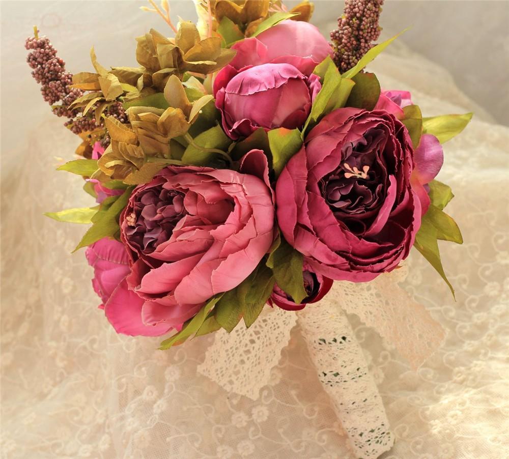 Artificial flower Wedding Bouquet Bouquet Bridal Bouquet Bridesmaid Wedding Decoration Event Party Supplies buques de noivas (10)