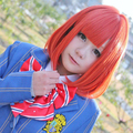 Anime Uta no Prince sama Nanami Haruka Cosplay wig 40cm Deep Orange Short Cosplay Costume Wig free shipping