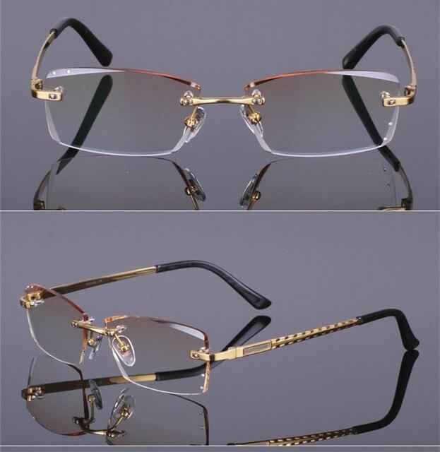 Очки кадр Алмазов передний край Моды и устойчивый titanium очковые очки кадр унисекс украшения оптических стекол