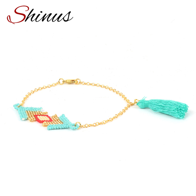 Aliexpress Buy Shinus Fashion Bracelet Women Men Love Awesome Seed Bead Patterns