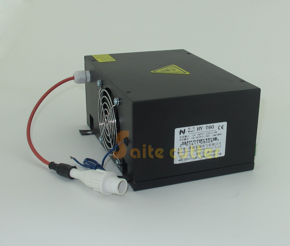 60W Water Cooled Laser Tube Power Supply PSU T60 for DIY CO2 Laser Engraver Cutter Engraving Machine 10 6 um co2 laser cutting machine diy parts 40w 60w 80 100w 130w 150w laser tube laser power supply fix tools