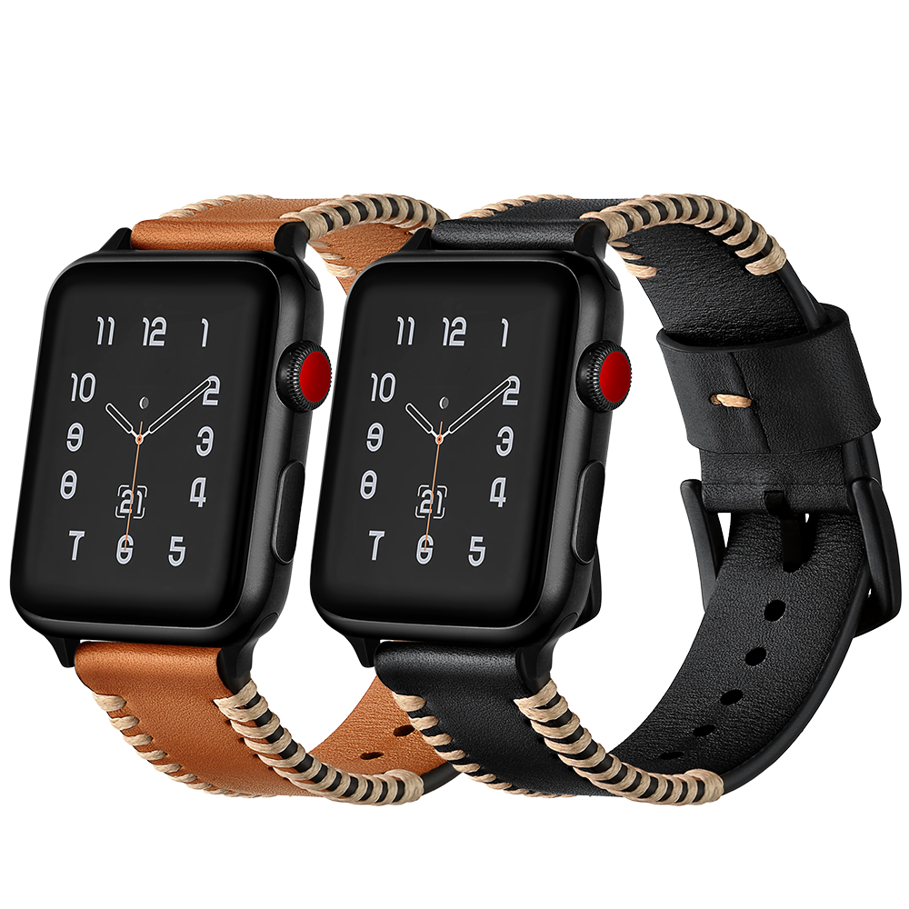 Genuine Leather Band For Apple Watch 42mm 38mm Series 3 2 ...