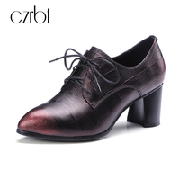 Chi Cho Fashion Embossed Leather Woman High Heel 6cm Boots Shoes Top Quality Women Fashion Gradient