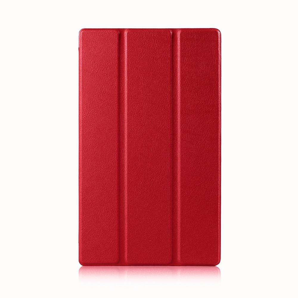 Étui en cuir pour Sony Xperia Z3 tablette compacte 8 pouces avec aimant + protecteur d'écran + stylet