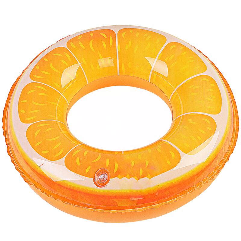 Swimming Floats Fruit Orange Printing Inflatable Swimming Ring Pool Beach Toys Tube for Kids Children