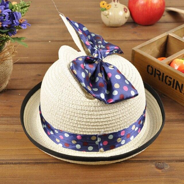 e775c532233ea Spring Summer Lovely Straw Hat Formal Hat Baby Summer Hat Modeling Basin  Cap Will Bow Children Hats
