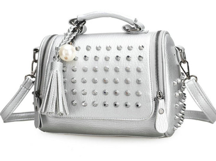 תיקים - Rdywbu HOT New Luxury Pearl Tassel Bag Fringe Bag Fashion Handbag  Studded Crossbody Glitter Bag Rivet Shoulder Wholesale H84 65b276cdba36