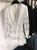 Zimmermann 19 новое платье с v образным вырезом и вышивкой, два цвета, три размера