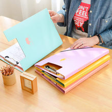 1 Piece Korean Stationery Cute Animal Cutout Stainless Stell Hard Clip Boards Folder Clipboards A4 Letter Size File Organizer