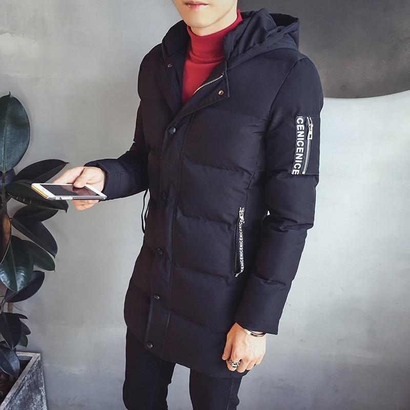 Ветровки мужские зимняя куртка 2018 мужские хлопчатобумажные мужские средней длины одежда на хлопковой подкладке A458 998 P120 - 4