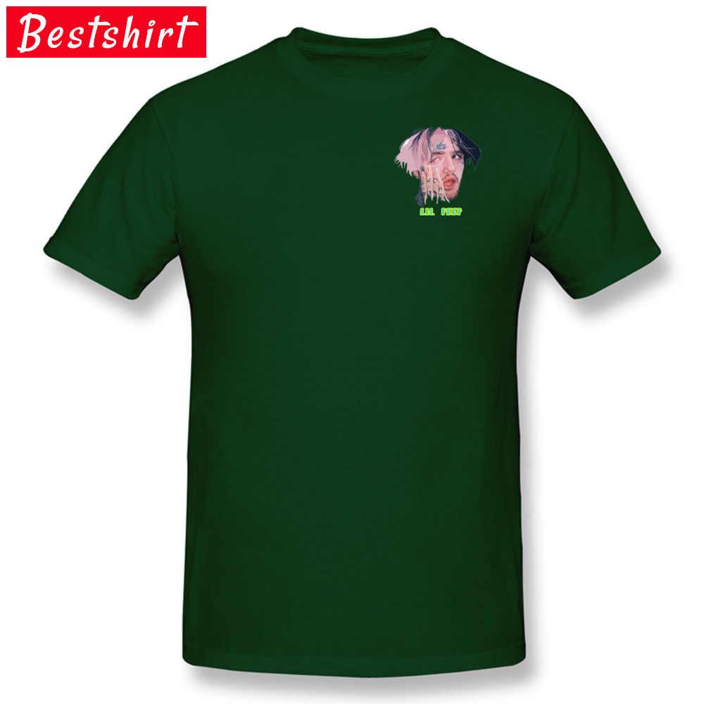 Светло-голубая популярная летняя футболка Lil Peep в стиле хип-хоп Осенние футболки 2018 новейшая 100% хлопковая забавная Футболка модная брендовая одежда