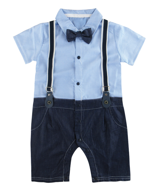 0e41db16b3aa Baby Boy Baptism Clothes Outfit Formal Gentleman Romper Newborn ...